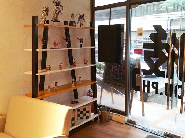 Y'Cafeの陳列棚