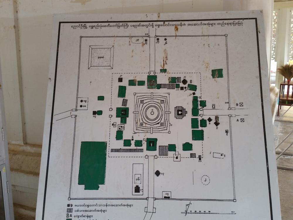シュエズィーゴン・パゴダ内部地図