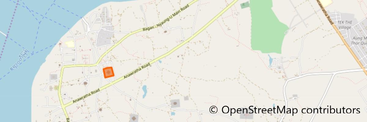 アーナンダ寺院地図
