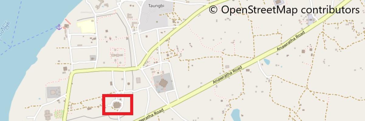 タビィニュ寺院地図
