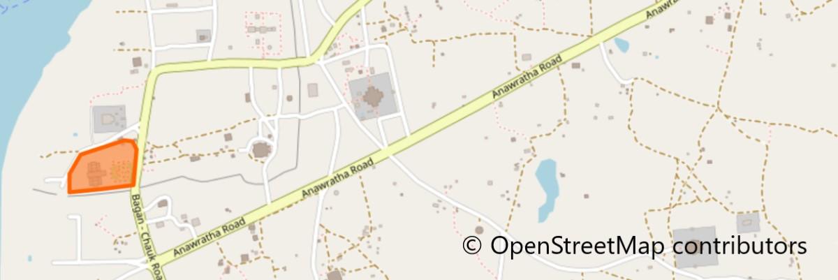 バガン考古学博物館地図