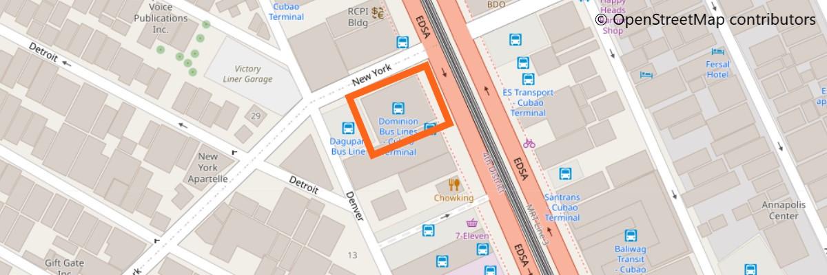 ドミニオンバスの地図