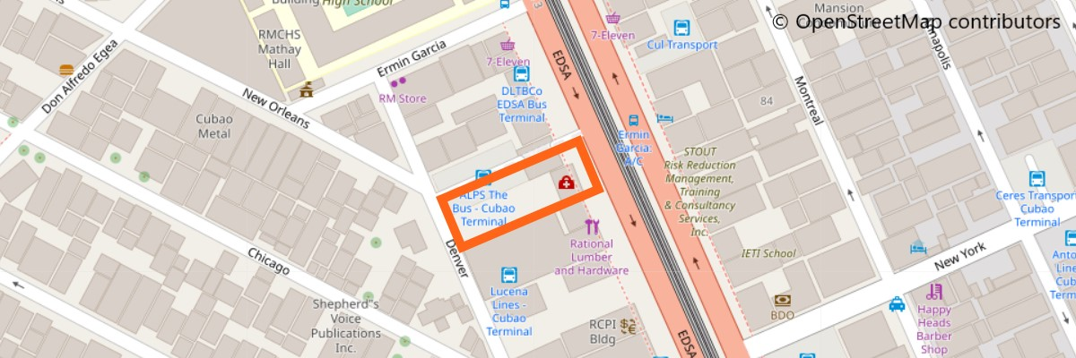 アルプスバスの地図