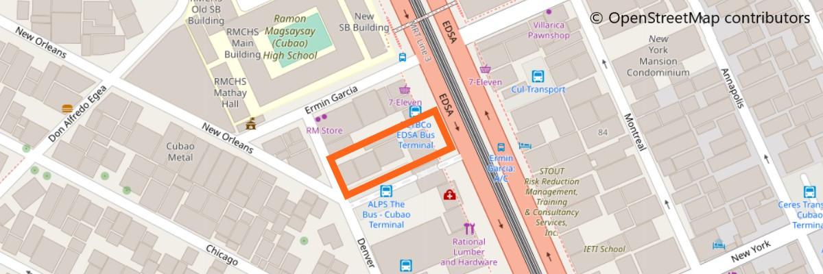 DLTBバスの地図