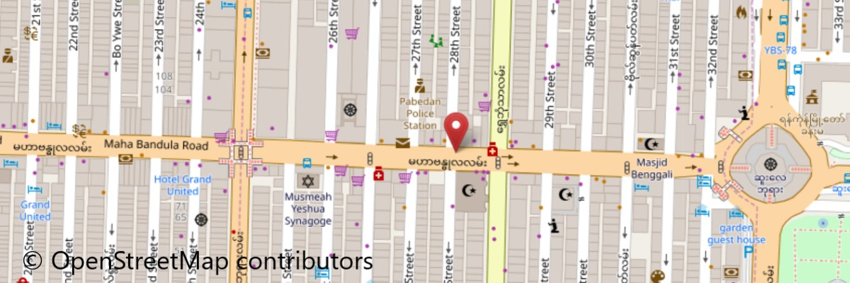 マハバンデュラ通り地図