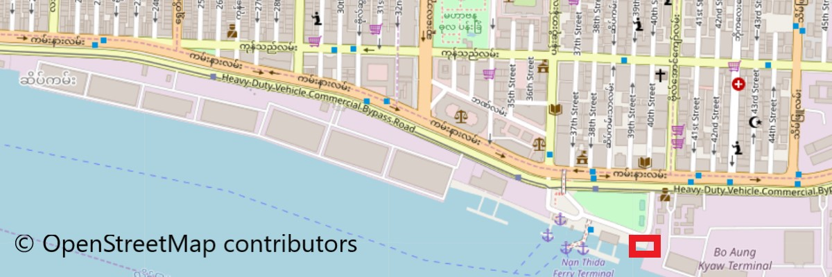 Map of Pompon Boat Terminal