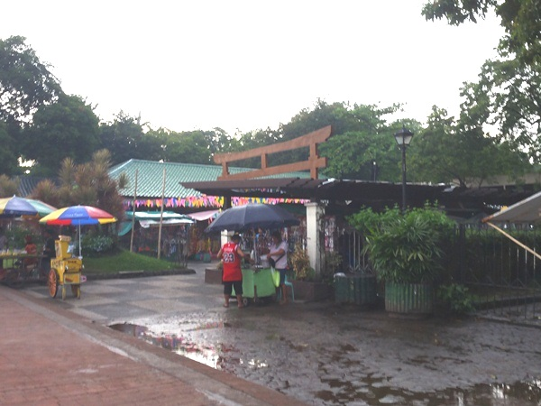 露店のある広場