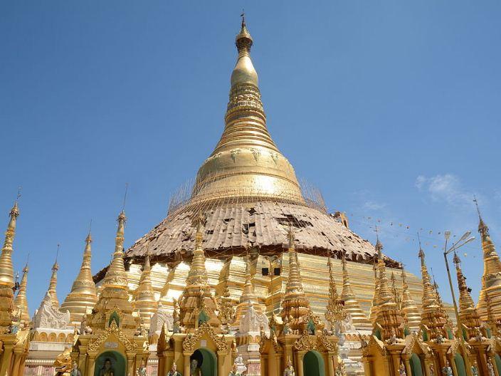 シュエダゴンパゴダの仏塔