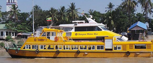 ヤンゴン水上バス(water buses)