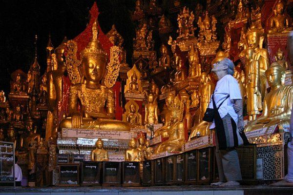 Inside Pindaya Caves