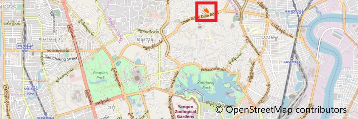チャウッターヂー寝釈迦(Chaukhtatgyi Temple)地図