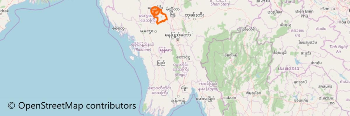 バガン(Bagan)地図