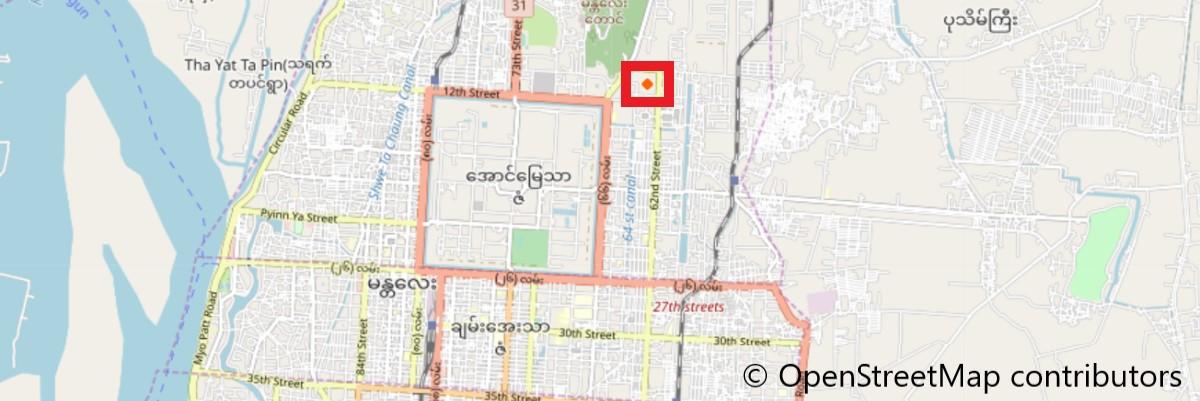 クドードォ・パゴダ地図