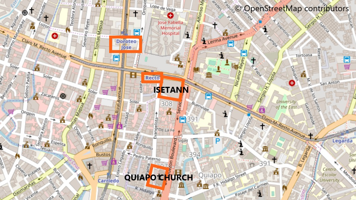 キアポ教会周辺地図