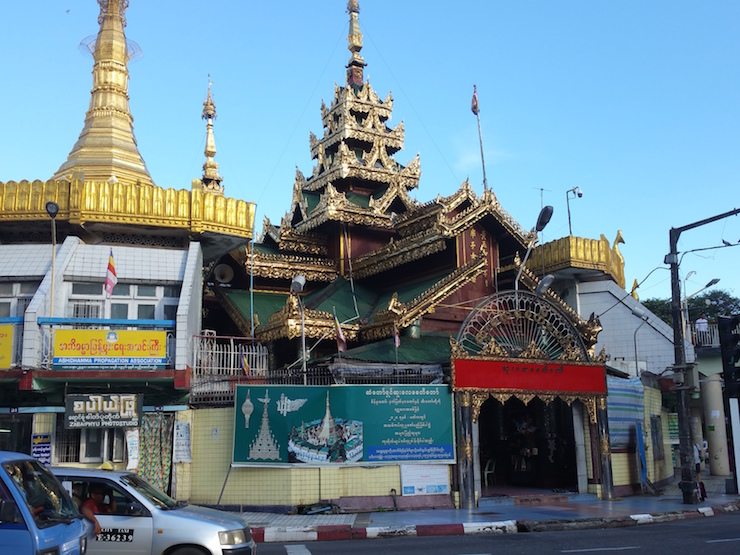 Exterior of Sule Pagoda