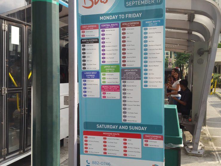 BGC路線バス路線図
