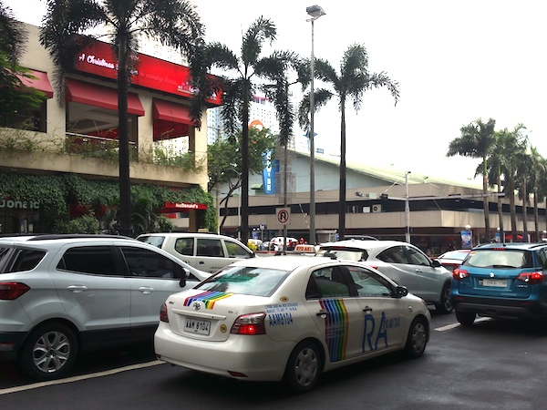 In front of Gateway Mall