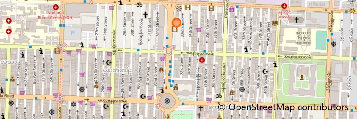 イーストホテルの地図