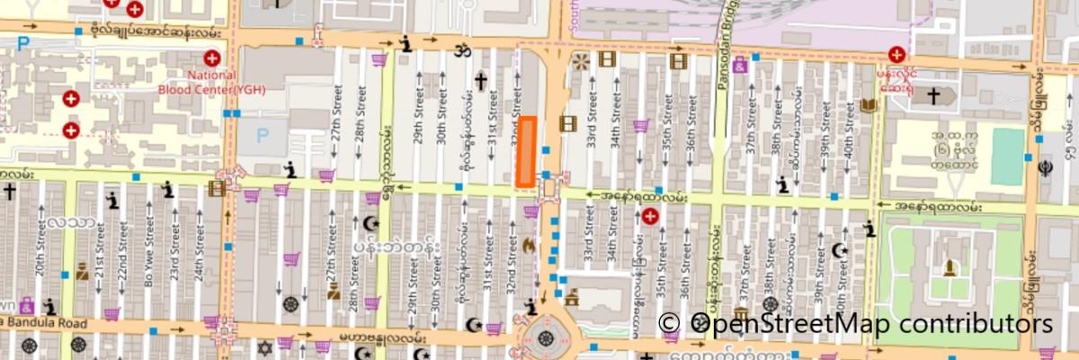 スーレースクエアの地図