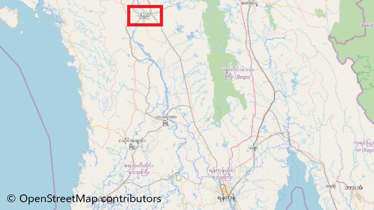 ピイ(Pyay)の地図
