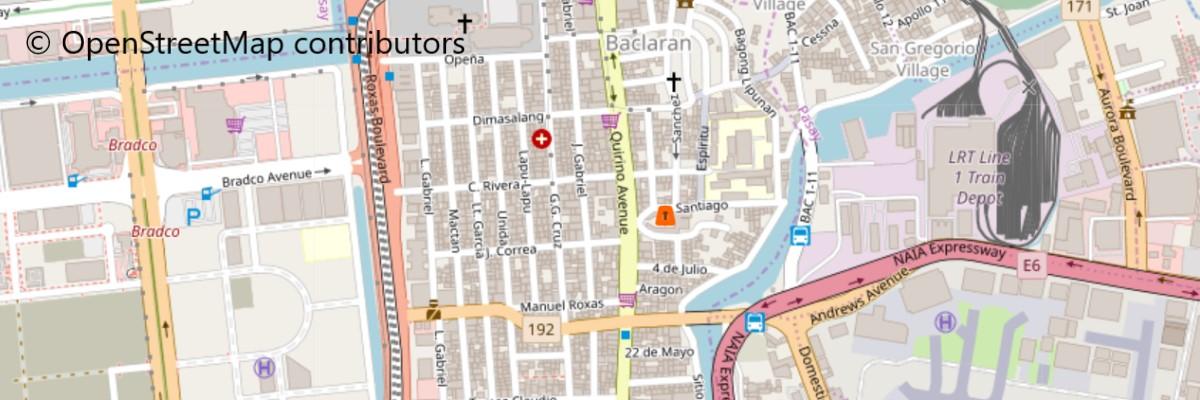 聖リタ・デ・カシア教会地図