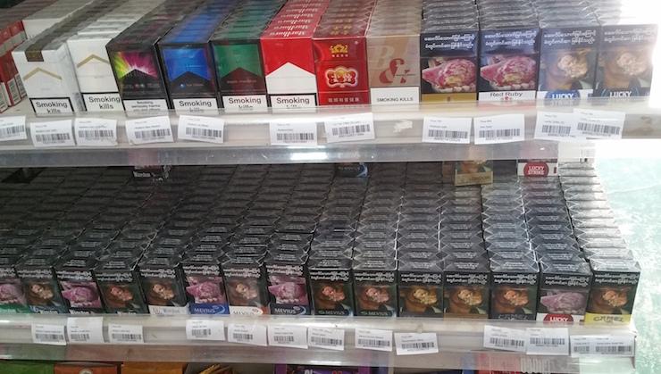 コンビニのタバコ売場