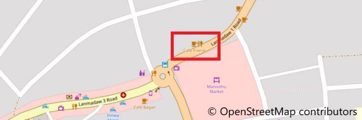 カフェの地図