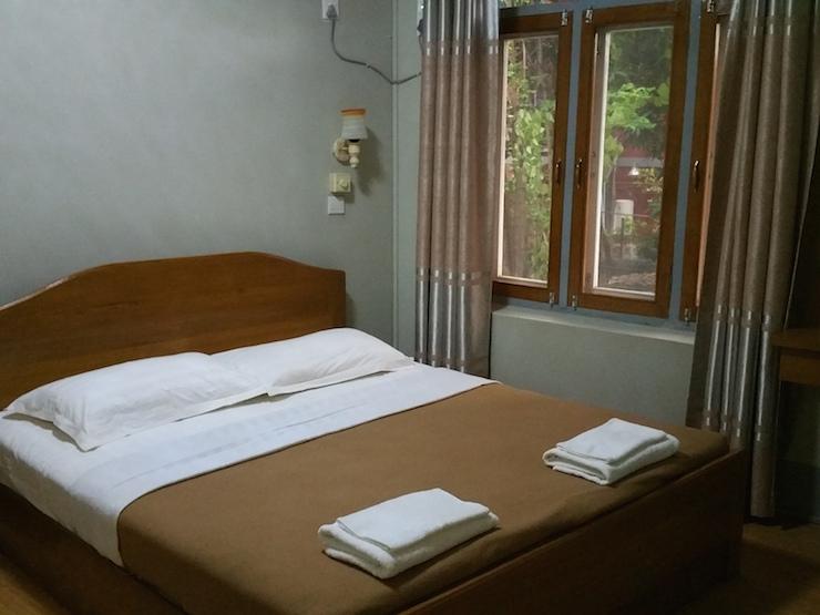 インワホテルのベッド