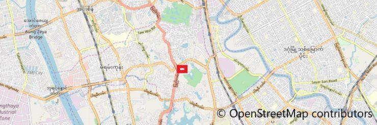 ホテルヤンゴンの地図