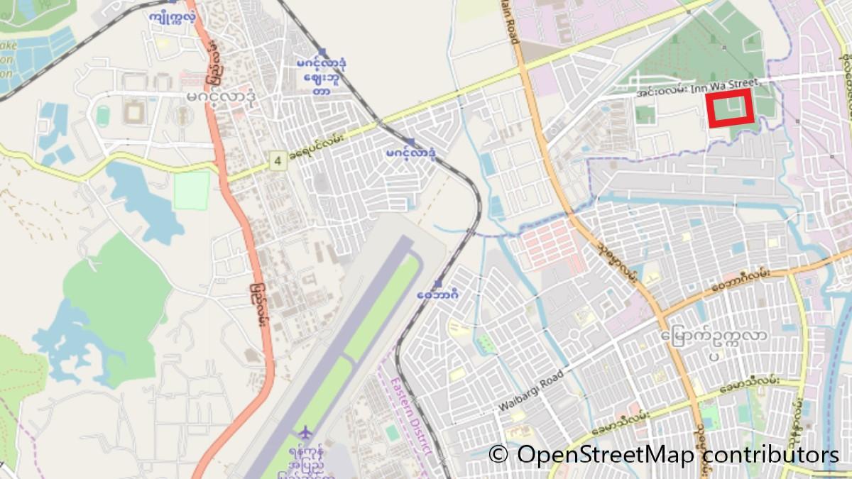 日本人墓地の地図