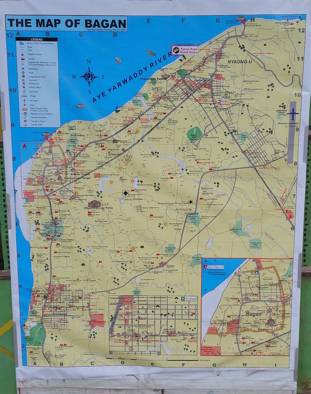 バガン地図