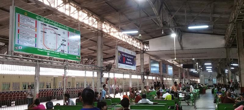 ヤンゴン駅駅舎