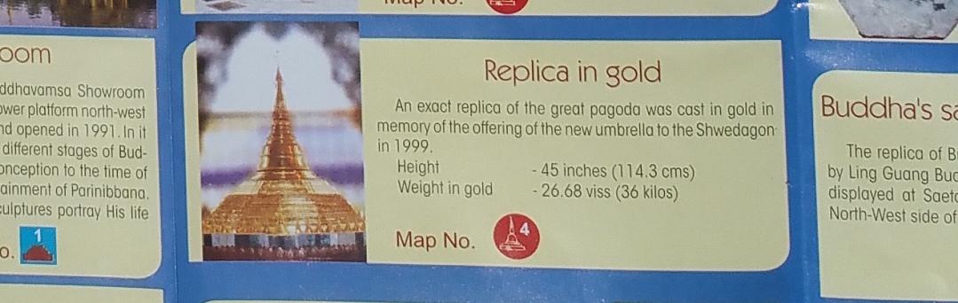 シュエダゴンパゴダの黄金複製(Replica of Shwedagon Pagoda in gold)