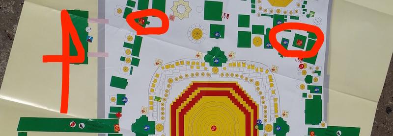 シュエダゴンパゴダ2つの梵鐘地図