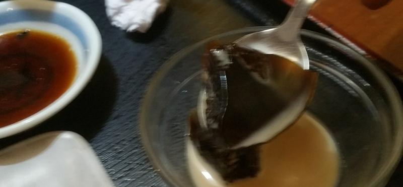 ラーメン定食のコーヒーゼリー