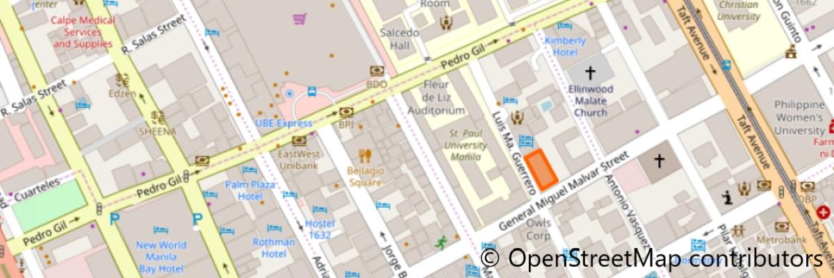 スカイアーツマニラ地図