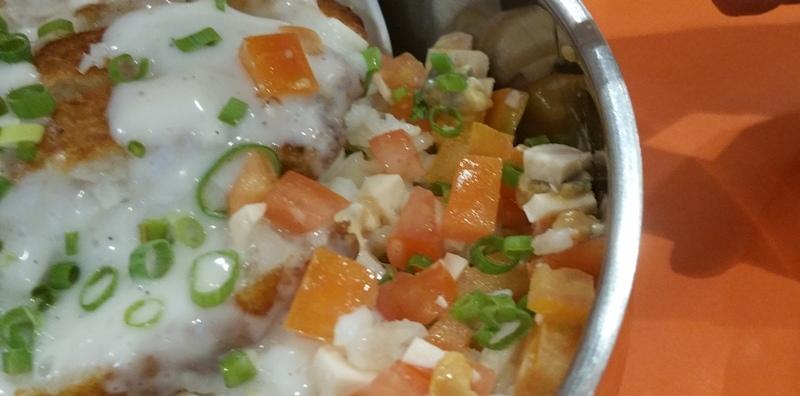 フィッシュフィレと生姜ライスのトマト