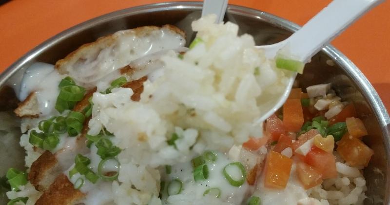 フィッシュフィレと生姜ライスのご飯