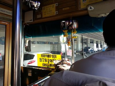 On board the bus to Don Mueang Airport