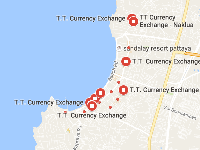 T.T.CURRENCY EXCHANGE地図