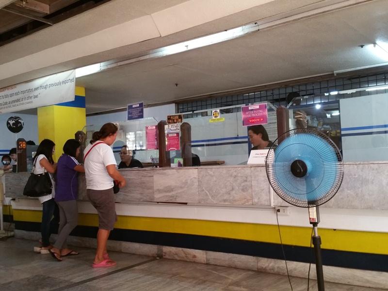 フィリピンの配送カウンター