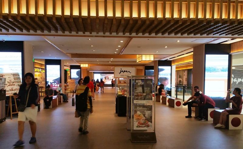 アヤラモール4階のジャパンエリア