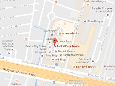 Map of Central Plaza Banner