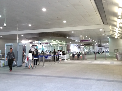 Manned ticket office at Tao Poon station.