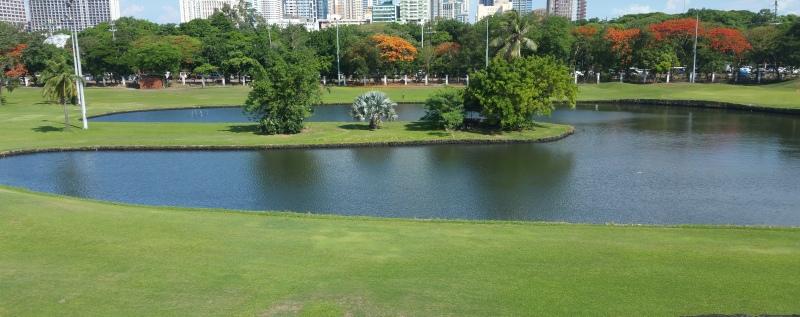 ゴルフ場の池