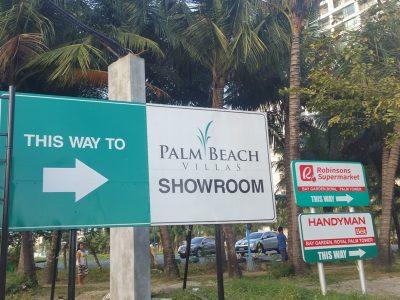 パームビーチショールーム看板