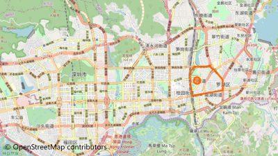 東門歩行街地図
