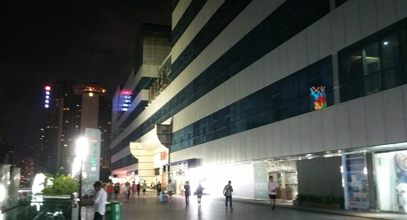 夜の羅湖商業城