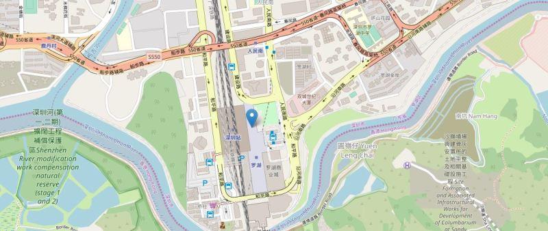 羅湖駅地図