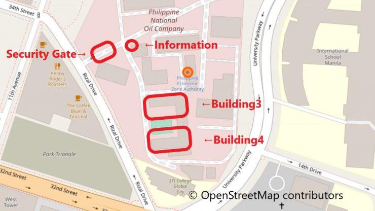 PEZA地図